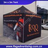 3X3mによっては習慣が折を印刷したアルミニウムフレームのおおいのテントが現れる