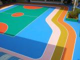 Assoalho ao ar livre da superfície do esporte do Badminton da certificação PVC/Vinyl de Bwf