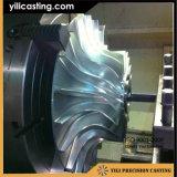 CNCのディーゼル機関車のための機械化のアルミ合金126X1659-1の圧縮機の車輪のインペラー
