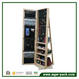 Cabinet permanent à bijoux à 360 degrés avec miroir de dressage
