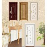 Puerta de madera pintada blanca del MDF para el cuarto de baño