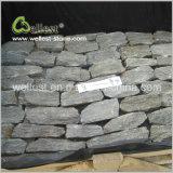灰色カラー壁の石スタック石のベニヤ