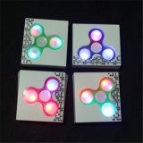Unruhe-Spinner-Finger-Spinner LED heller ABSedc-Druck-Rad-Handspinner für Kind-Autismus Adhd Angst-Druck-Entlastungs-Fokus-Spielwaren