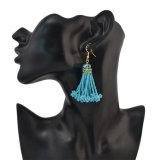 Boho Art-Legierung Diamante bördelt hängende Troddel-Ohrring-Kettenschmucksachen