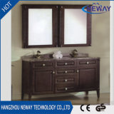 卸し売りカシの木の旧式な浴室用キャビネットの家具
