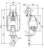 Hugo-Marken-beweglicher elektrischer Miniarmkreuz-Kran