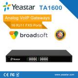 16 Gateway ATA do SIP VoIP do Gateway análogo portuário de Rj11 FXS