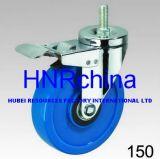 Blauer Belüftung-Rad-Schwenker mit Gesamtverschluss-Schraubverschluss- Fußrolle