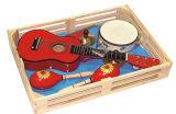Jeu en bois d'instrument de musique de jouet de guitare