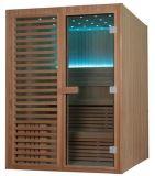 Mini sauna sec en bois Cabine M-6038 de cèdre rouge de Chambre de sauna de Monalisa