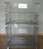 Jaula plegable del almacenaje de alambre de acero
