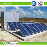 Suporte e borne solares galvanizados