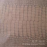 Tessuto domestico decorativo del sofà della pelle scamosciata della tessile con il trattamento legato