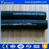 Mangueira quatro/seis sintética resistente de alta elasticidade do petróleo da trança do fio de aço da alta qualidade (SAE 100r13)