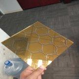 vidrio grabado capa del arte del claro de 5m m para el edificio de la decoración