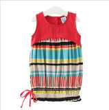 綿およびリネン各国用の風のベストの服をステッチする子供の衣服