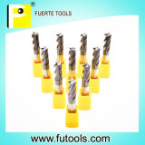 Metal Cutting를 위한 4개의 플루트 Machine Tool End Milling Cutter