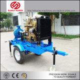 Bomba de agua centrífuga conducida por el motor diesel para la irrigación