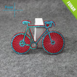 Rotes Shining Bicycle Embroidered Patch mit Beads