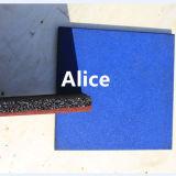 Квадратная резиновый плитка/цветастый резиновый настил Paver/спортивной площадки резиновый