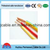 Fiação elétrica isolada PVC portuária colorida do único núcleo de Ningbo