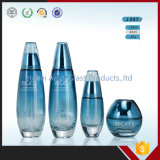 Fancy Cream Glass Jars Blue Glass Bottles for Cosmetics Packaging