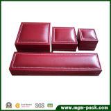 Коробка ювелирных изделий PU фабрики горячая продавая кожаный