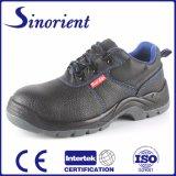 Sapatas de segurança industrial de aço do dedo do pé do couro rachado para a construção