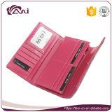 Fani 주문 꽃 인쇄 가죽 지갑, 여자 돈 카드를 위한 우아한 PU 지갑