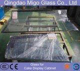冷やされた食糧表示のための4mm+6A+4mmの熱い曲がった絶縁されたガラス
