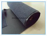 Doppia moquette costolata di mostra con la parte inferiore di gomma