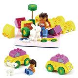 Stuk speelgoed van de Blokken van de Auto van het Konijntje van het Stuk speelgoed DIY van de gift het Onderwijs