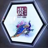 広告のためのアクリルの写真フレームLEDの水晶ライトボックス
