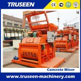 Capacidade 750L Twin Shaft Horizontal Forced Type of Concrete Mixer