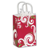 Bolsa de papel de encargo colorida del bolso de compras del papel de arte de los compradores elegantes plateados