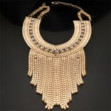 Gold al por mayor Plated Metal Necklace Jewelry para Woman Sn023