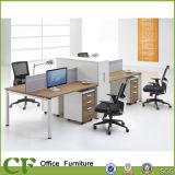 Estação de trabalho da equipe de funcionários da divisória do conjunto do escritório com gabinete de enchimento