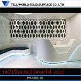 Bureau de réception moderne à haute brillance blanc de bureau de réception d'hôtel de lustre de DEL