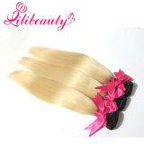 Haar Ombre van het Menselijke Haar van de Kleur van de Blonde van twee Toon het Braziliaanse Maagdelijke