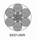 기중기를 위한 철강선 밧줄 6*37+Iwr