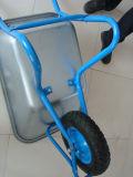 Brouette de roue galvanisée de la roue Wb5009 de plateau et d'air