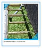 Trampoline redondo de 15FT com cerco da segurança e escada para o divertimento da família