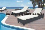 セットされる柳細工の屋外のラウンジ/ビーチチェア/寝台兼用の長椅子(BG-MT11)