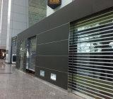 Puerta comercial del obturador del rodillo de la visión completa transparente para el frente del departamento