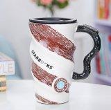 Tazza di caffè su ordinazione di ceramica poco costosa della tazza di tè di Starbucks con il coperchio