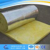 Aislamiento acústico de aluminio película hizo frente de cristal manta de lana para Wall