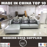 Sofá de couro moderno da chegada nova (Lz077)