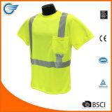 Klasse 2 de Weerspiegelende T-shirt van de Veiligheid van Wicking van de Vochtigheid maximum-Dri