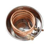 Heißer kupfernes Gefäß-Wasser-Destillierapparatmoonshine-Spiritusnoch Hauptbrew-Installationssatz des Verkaufs-30L/8gal mit Klopfer-Faß
