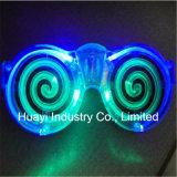 LED spirale allume des lunettes de soleil